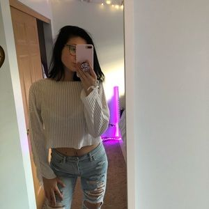 cropped long sleeve